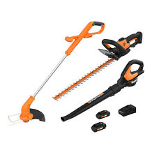 WORX 2-in-1 Trimmer & Edger, Hedge Trimmer and Leaf Blower Lawn Equipment Combo