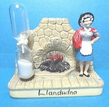 "Vintage Manor Ware ""Llandudno"" Lady By Fireplace Sand Egg Timer England"