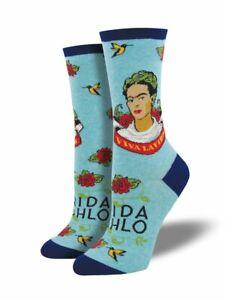 "Socksmith Women's Socks Novelty Crew Socks ""Viva La Frida"" / Choose Your Color!!"