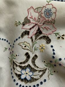 Hand Embroidered Madeira Tablecloth