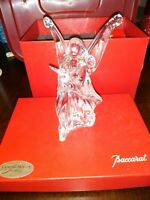 FLAWLESS Stunning BACCARAT France Crystal NATIVITY ANGEL OF PEACE Figurine DOVE