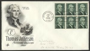 #1278 1c Jefferson, Art Craft-Addressed FDC **ANY 4=FREE SHIPPING**