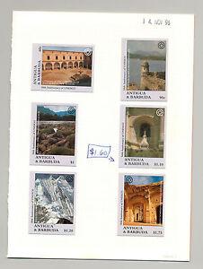 Antigua UNESCO, UN 6v & 1v M/S of 6 & 1v S/S Chromalin Proofs Mounted