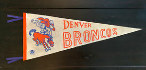 original BEYOND RARE 1962 DENVER BRONCOS 2nd yr AFL FOOTBALL TEAM PENNANT