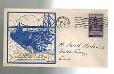 1940 Groton CT USA NAVY USS SUBMARINE Gar Cover