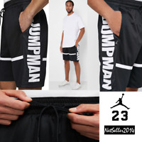 🔥 SZ LARGE UNIQUE 🆕 Nike Air Jordan Jumpman Retro Basketball Shorts Black Gym