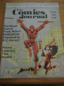 The Comics Journal #58 Daredevil Elektra Frank Miller