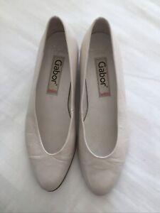 Gabor Shoes Cream/beige UK5 Aud7.5 Eu38 Slim Fit