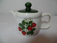 Vintage McCoy Mini Tea Pot  Straberry Country - Mint Condition # 7129