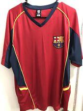 BARCELONA FC Futbol Shirt XL Mens Vintage Soccer Jersey Practice Warm Up Red