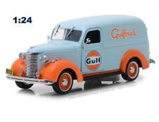 "GREENLIGHT 85011 1939 CHEVROLET PANEL TRUCK ""GULF OIL"" LIGHT BLUE DIECAST 1:24"