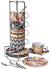 BRAND NEW IN BOX, COMPLETE SET, BEAUTIFUL MISSONI for Target Espresso Cup Set