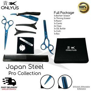 "ONLYUS 6"" Professional Scissor Hairdressing Hair Cutting Barber & Thinning Set"