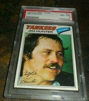 "1977 OPC O-pee chee Topps #10 Jim ""Catfish"" Hunter New York Yankee NM MINT PSA 8"