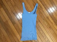 J.Crew Blue Sequined Tank Top Blouse Size M