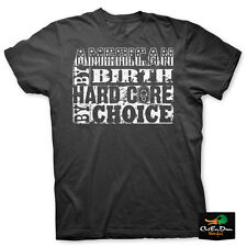 NEW HARD CORE BRANDS AMERICAN BY BIRTH HC BY CHOICE LOGO S/S T-SHIRT LARGE