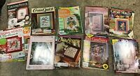 Huge Lot 60 Counted Cross Stitch Pattern Magazine Christmas Baby more