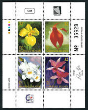MARSHALL ISLANDS, SCOTT # 597, MINI SHEET OF ORCHIDS & FLOWERS, SINGAPORE 1995