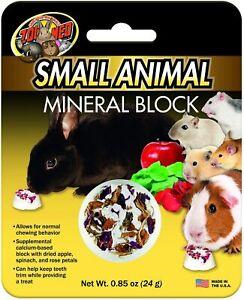 Zoo Med Petit Animal Minéral Bloc 25.1ml Fabriqué Au USA Tiny à Mâcher Friandise