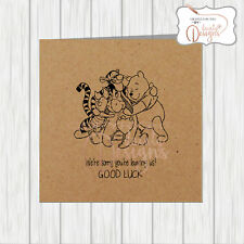 Winnie The Pooh Sorry You're Leaving New Job Card - Workmate Colleague Office