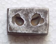 India Vintage Steel Jewelry Double Sided Die Mold hand engraved Earring (D77)