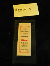 WATLING REPRO AWARD CARD FOR ANTIQUE SLOT MACHINE #27-AC-7