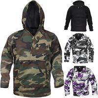 Camo Anorak Hoodie Military Parka Outdoor Army Tactical Sweatshirt Multi-Pocket