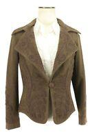 Ralph Lauren Black Label Women's 100% Wool Blazer Embroidered Military Jacket 8