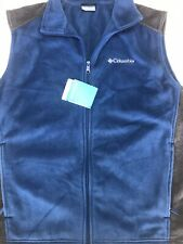 Columbia Men's Steens Mountain Full Zip Soft Fleece Vest Size Large NWT Blue