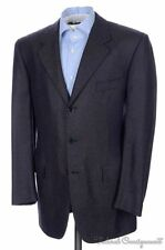 BIJAN Recent Brown Blue 100% CASHMERE Blazer Sport Coat Jacket - Bespoke 42 R