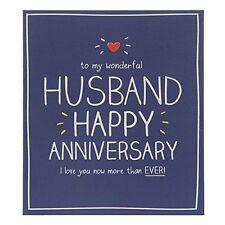 Happy Jackson Card: Husband Happy Anniversary - New In Cello (GF760B)