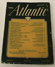 Janurary 1941 THE ATLANTIC Magazine - Wendell Willkie - W.H. Auden