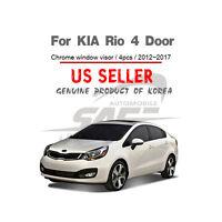 Chrome Side Window Visor Wind Deflectors 4pc Tapeon for KIA RIO SENDAN 4 DOOR