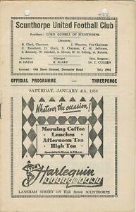 1957-58 SCUNTHORPE UNITED v BRADFORD CITY - FA Cup