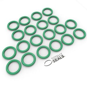 Totally Seals® 2.5mm Cross Section Viton (FKM) O-Rings Green Rubber Metric 75A