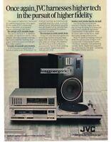 1982 JVC Receiver Tape Deck Speakers Turntable Stereo Hi-Fi Vtg Print Ad