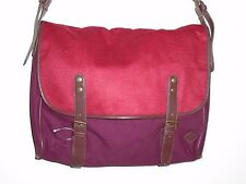 Urban Outfitters Hester St Trading Co Red/Burgundy Felt Messenger Bag S/O NWOT