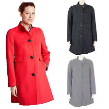 ex M&S Womens Ladies Winter Coat Funnel Neck Single Breasted Jacket