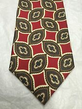 LIBERTY OF LONDON MEN'S TIE RED WITH BLUE DESIGN 59 X 3