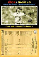 2020 Topps Heritage GERRIT COLE SP French Text Yellow Back Astros ALCS G3 #197