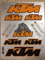 Ktm Reflective Mx stickers decals graphics Sheet waterproof motorcross EXC SX