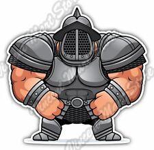 "Armed Roman Fat Gladiator Warrior Funny Gift Car Bumper Vinyl Sticker Decal 4.6"""