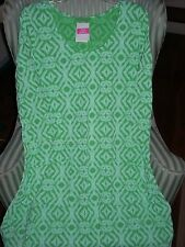 "NWT FRESH PRODUCE100% COTTON ""SHIBORI"" DESIGN  DALIA DRESS ON PALM(L)"