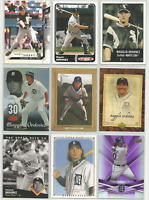 Magglio Ordonez 9 Card Lot 2001-2009 Topps Upper Deck Bowman White Sox Tigers