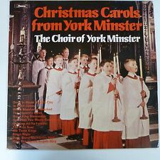 vinyl lp record CHRISTMAS CAROLS York Minster Choir 1979 Jackson / Coffin