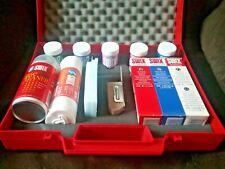 Swix Wax Kit T0062 | Ski Base Brushes Scraper CH Low Fluoro Wax Fiberlene Case