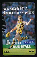 1999 Hawthorn Membership Season Card Jason Dunstall Hawks ticket