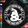 DON'T TREAD ON ME LIVE FREE OR DIE 1776 USA Gadsden STICKER Snake 2A VINYL DECAL