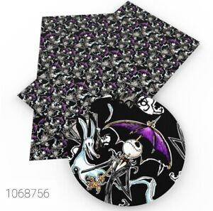 """Jack FAUX LEATHER SHEET 9"""" X 12"""" 1069756 Nightmare Before Christmas SMOOTH"""