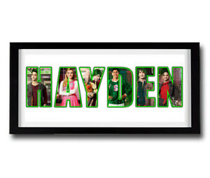 DISNEY ZOMBIES Personalised Name Print Art - High Quality Frame Included